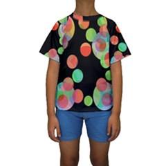 Colorful Circles Kid s Short Sleeve Swimwear