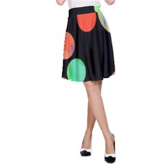 Colorful circles A-Line Skirt