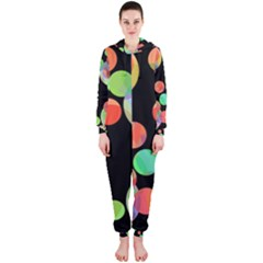 Colorful circles Hooded Jumpsuit (Ladies)