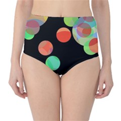 Colorful circles High-Waist Bikini Bottoms