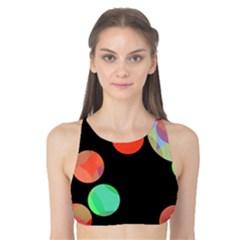 Colorful circles Tank Bikini Top