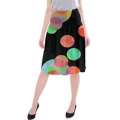 Colorful circles Midi Beach Skirt