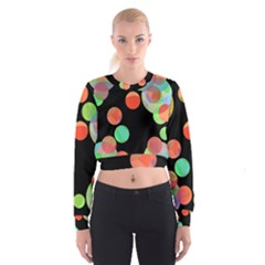 Colorful circles Women s Cropped Sweatshirt