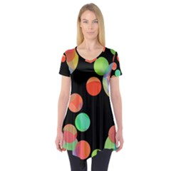 Colorful circles Short Sleeve Tunic