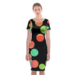 Colorful Circles Classic Short Sleeve Midi Dress