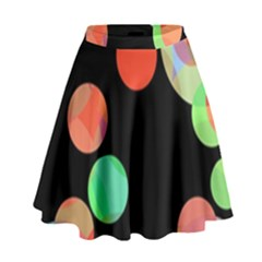 Colorful Circles High Waist Skirt
