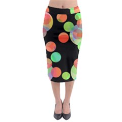 Colorful Circles Midi Pencil Skirt