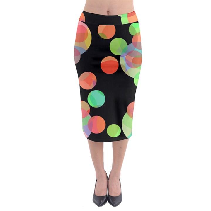 Colorful circles Midi Pencil Skirt