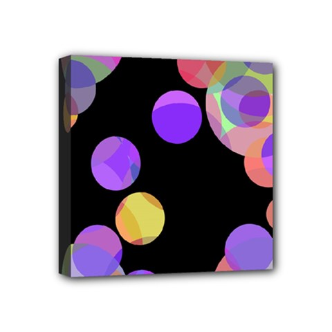 Colorful decorative circles Mini Canvas 4  x 4