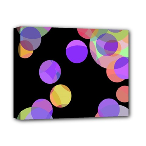 Colorful decorative circles Deluxe Canvas 14  x 11