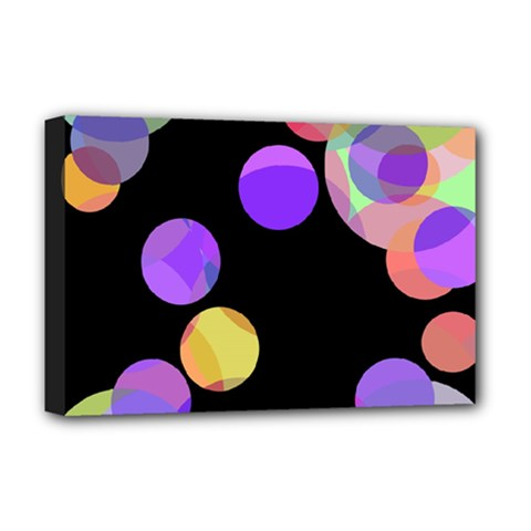 Colorful decorative circles Deluxe Canvas 18  x 12
