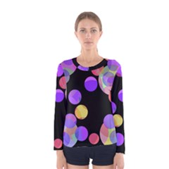 Colorful decorative circles Women s Long Sleeve Tee