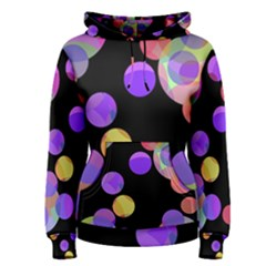 Colorful decorative circles Women s Pullover Hoodie