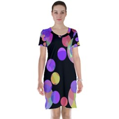 Colorful decorative circles Short Sleeve Nightdress