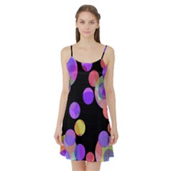 Colorful decorative circles Satin Night Slip