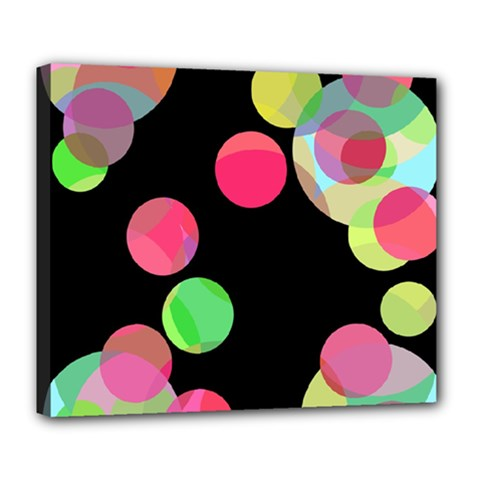 Colorful decorative circles Deluxe Canvas 24  x 20