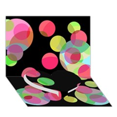 Colorful decorative circles Heart Bottom 3D Greeting Card (7x5)