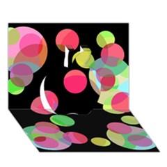 Colorful decorative circles Apple 3D Greeting Card (7x5)