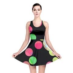 Colorful decorative circles Reversible Skater Dress