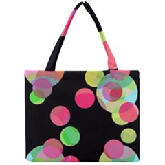 Colorful decorative circles Mini Tote Bag