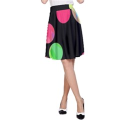 Colorful decorative circles A-Line Skirt