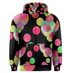Colorful decorative circles Men s Zipper Hoodie