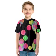 Colorful decorative circles Kid s Sport Mesh Tee