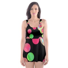 Colorful decorative circles Skater Dress Swimsuit