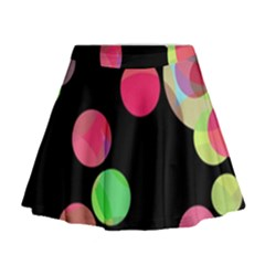 Colorful Decorative Circles Mini Flare Skirt