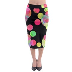 Colorful Decorative Circles Midi Pencil Skirt