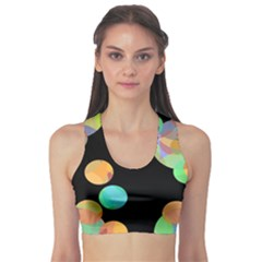 Orange circles Sports Bra