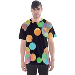 Orange circles Men s Sport Mesh Tee