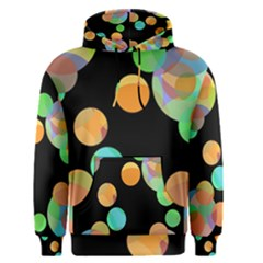 Orange circles Men s Pullover Hoodie