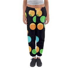 Orange circles Women s Jogger Sweatpants