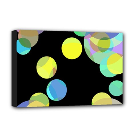Yellow circles Deluxe Canvas 18  x 12
