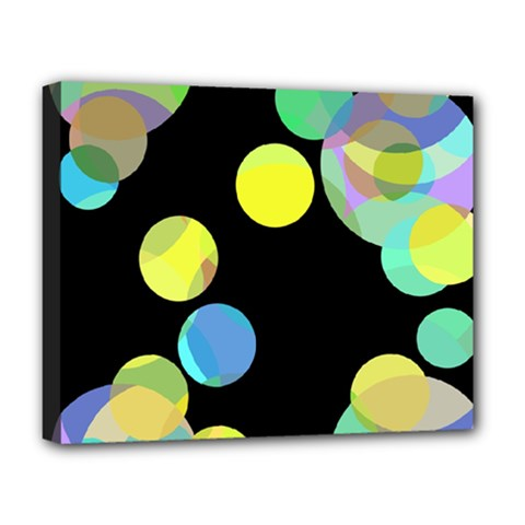 Yellow circles Deluxe Canvas 20  x 16