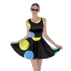 Yellow circles Skater Dress