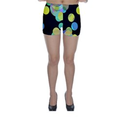 Yellow circles Skinny Shorts