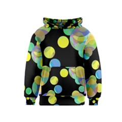 Yellow circles Kids  Pullover Hoodie