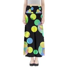 Yellow Circles Maxi Skirts