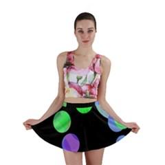 Green decorative circles Mini Skirt