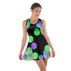 Green decorative circles Racerback Dresses