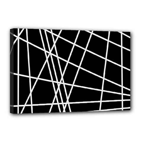 Black and white simple design Canvas 18  x 12