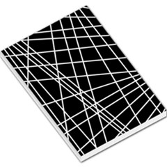 Black and white simple design Large Memo Pads