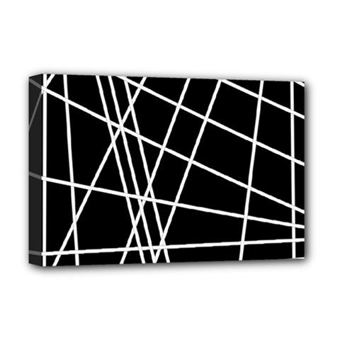 Black and white simple design Deluxe Canvas 18  x 12