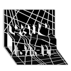 Black And White Simple Design You Did It 3d Greeting Card (7x5)