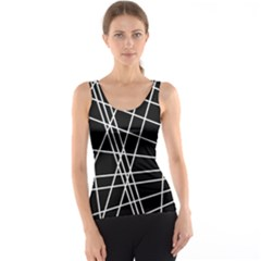 Black and white simple design Tank Top