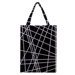 Black and white simple design Classic Tote Bag