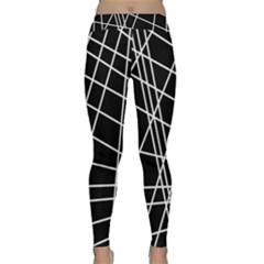 Black and white simple design Yoga Leggings