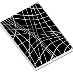 Black and white elegant lines Large Memo Pads